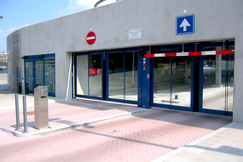 Secure Parking — Gates with Plate Glass Infill