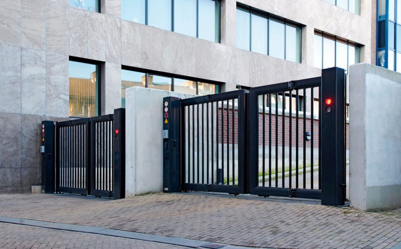 Bi-fold gate at Police Building