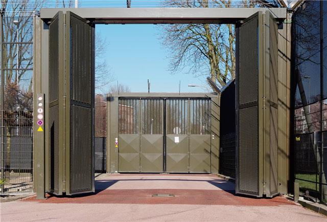 Overhead Bi-fold Gate - Open