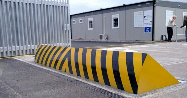 Blocker at industrial location