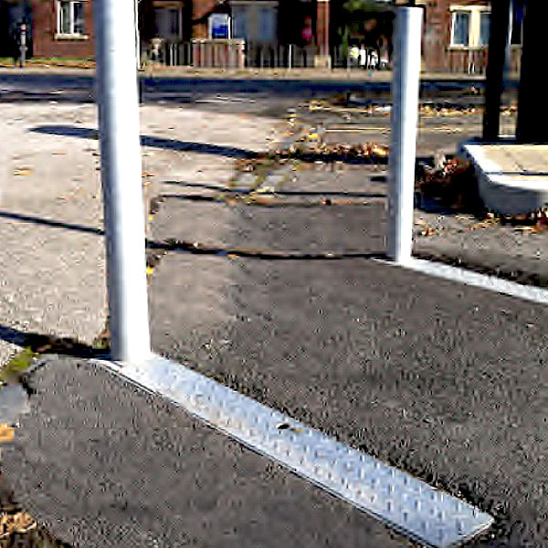 Fold Down Bollard Installation
