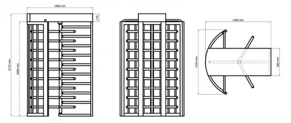 Project Site Access Turnstile Specifications